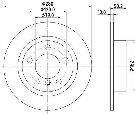MINTEX MDC2712 BRAKE DISC Rear
