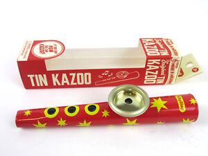 METAL-KAZOO-Blue-or-Red-Tin-HUM-A-ZOO-New-in-Box