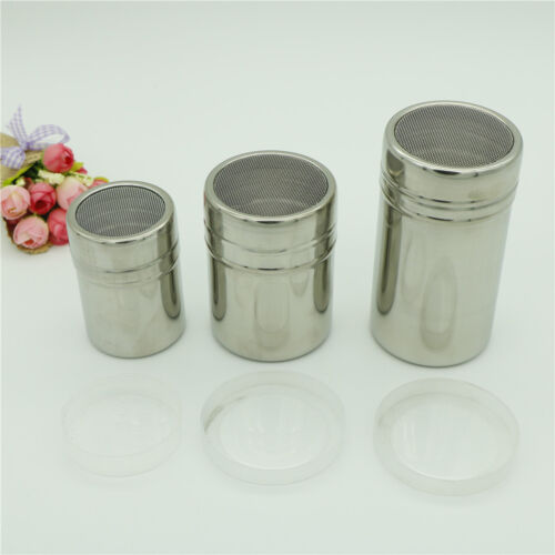 Stainless Steel Chocolate Shaker Icing Sugar Cocoa Flour Coffee Sifter  VQ S