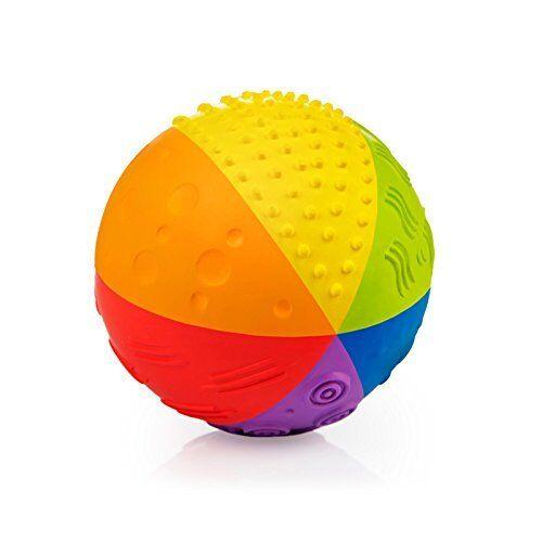Phthalates Food-grade paint PVC Free Natural Rubber Sensory Ball Rainbow BPA