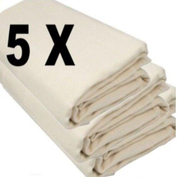 6ft X 3ft DUST SHEET 100/% COTTON TWILL 5 X MINI BOLTON TWILL HEAVY DUTY