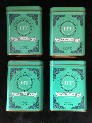 """Harney /& Sons Fine Tea"" Tea Tins *Square shape* Lot Of 4 Empty"