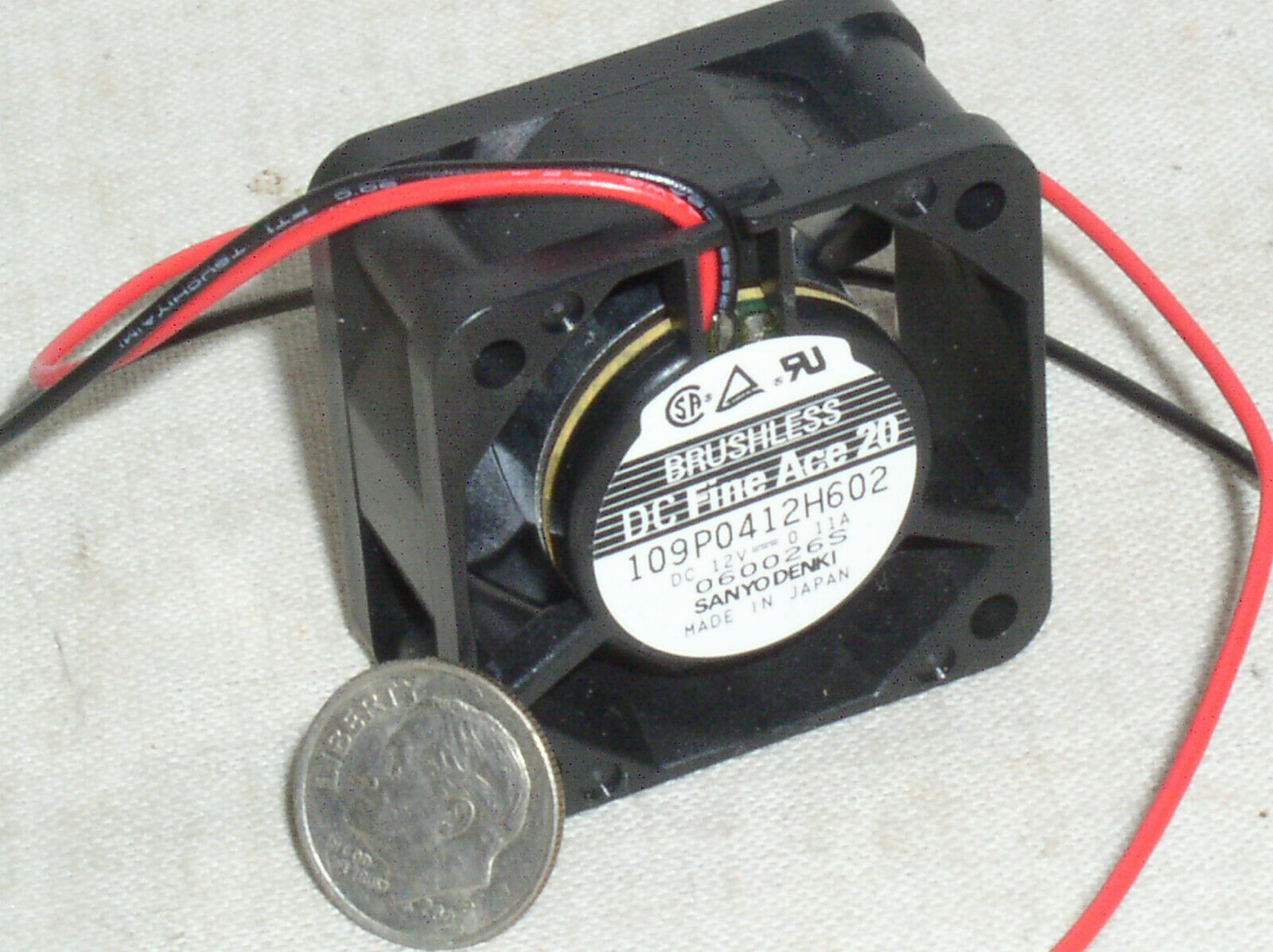 SANYO DENKI 24VDC 0.07A BRUSHLESS COOLING FAN 109P0424H6D04 *LOT OF 3*