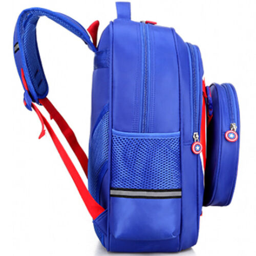 Kids Boys Toddler Superhero Captain America School Book Bag Backpack Rucksack