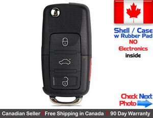 1x-New-Replacement-Remote-Key-Fob-Flip-Case-3-Button-For-Volkswagen-Shell-Only