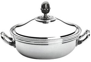 Christofle Malmaison Gemüse Schale mit Deckel/légumier avec Couvercle Plat neuwertig