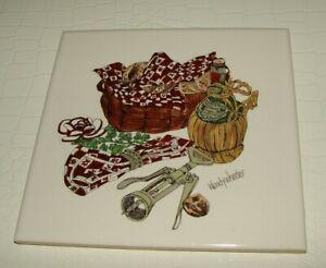 Vintage-Hyalyn-Ceramic-Tile-Wendy-Wheeler-Trivet-made-Wall-Decor-USA-NEW