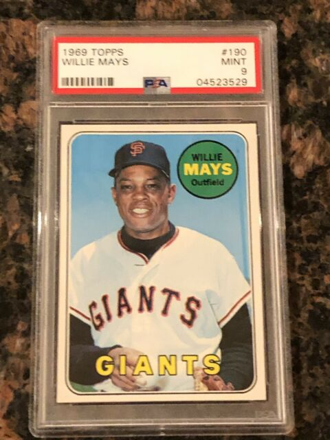 1969 Topps Willie Mays 190 Baseball Card