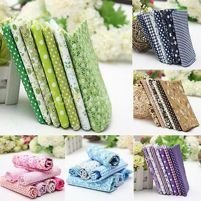 7 Assorted Series Pre Cut Charm Cotton Quilt Fabric Crafts Fat Patchwork Sewing