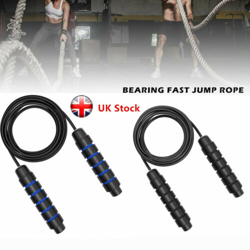 3m Boxing Skipping Rope Kids Gym Weighted Adjustable Jump Adult Speed Ropes UK