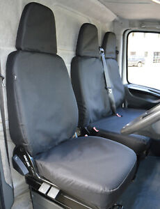 IVECO DAILY HEAVY DUTY BLACK WATERPROOF RUBBER LINED VAN SEAT COVERS 2+1.