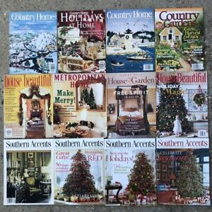 Details about Lot of 12 Home Decorating Magazines Country Home Southern  Accents Preowned