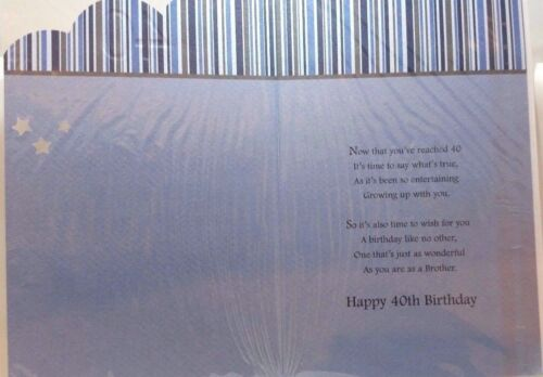 Brother 40 40th Motorbike Design Happy Birthday Card Quality Card Lovely sataniques