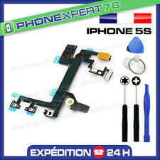 NAPPE FLEX DU BOUTON POWER ON/OFF + VOLUME + VIBREUR pour IPHONE 5S + OUTILS