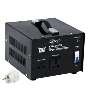 STU 2000 W Watt Step Up From 110V To 220V Voltage Converter Transformer