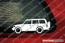 2x Mitsubishi Pajero (2nd gen 1991-1999) offroad 4x4 outline stickers,Decals