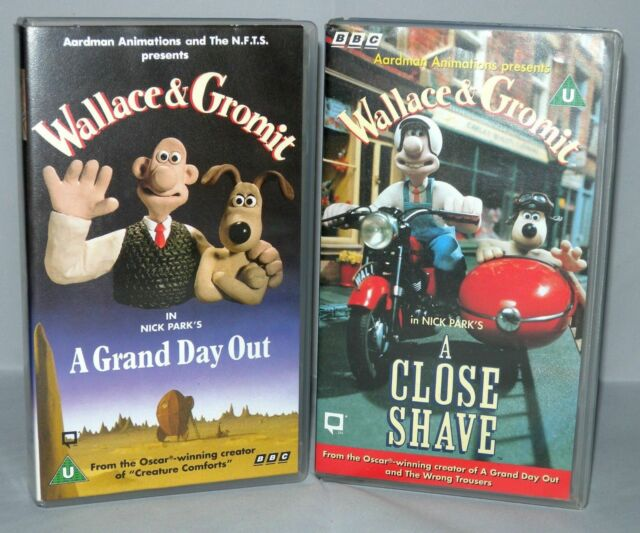 Wallace & Gromit 2 tape set, Children's Vhs Tapes & Case. - Collectable VHS