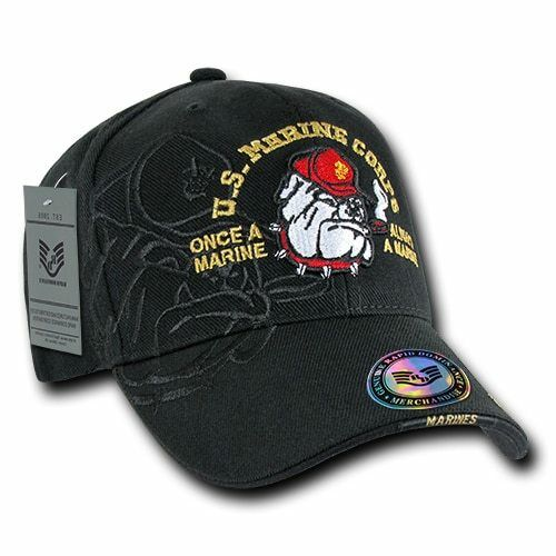 US Marines USMC Military Baseball Cap Ball Hat Shadow Caps- Bulldog Black  for sale online  7217e1616300