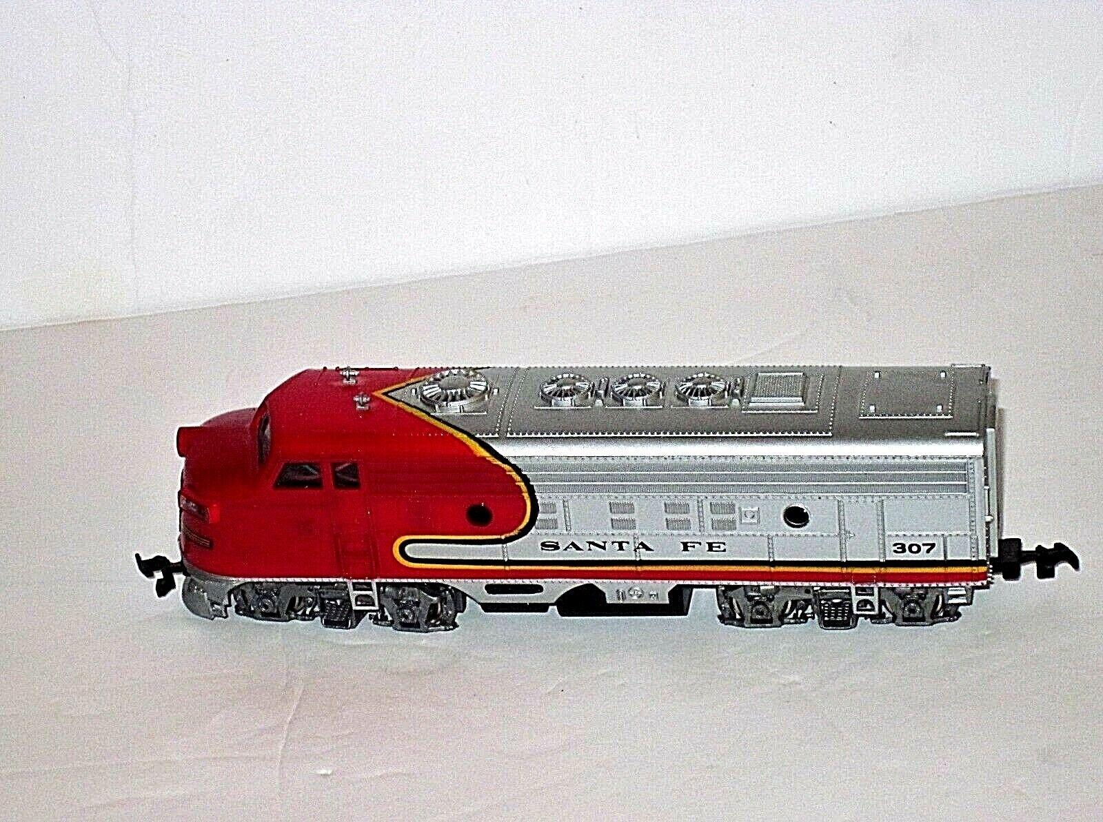 Vintage Bachmann Santa Fe 307 Locomotora Diesel Locomotora De argento rosso  Hermoso
