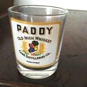 """Shot Glass """"Paddy"""" Old Irish Whisky Product of Ireland"""