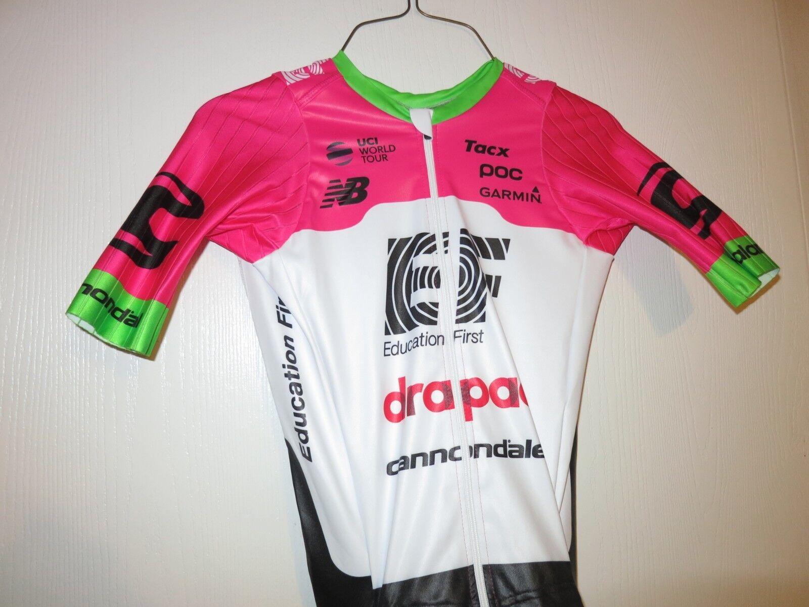 2018 POC POC 2018 EF Drapac Cannondale Pro Cycling Team AeroSuit Race Jersey Bib Short XS 319a07