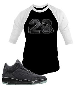 1ae3617a 23 Baseball Graphic Tee Shirt To Match Air Jordan 3 Flyknit Big Tall ...