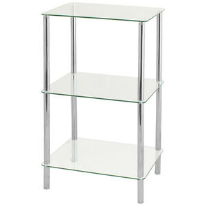 Charmant Image Is Loading HARTLEYS CLEAR GLASS 74CM 3 TIER SHELF DISPLAY