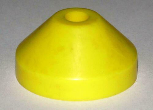 """Single Puck 7/"""" Vinyl Adapter BB Konisch Kegelförmig Mittelstück Gelb"""