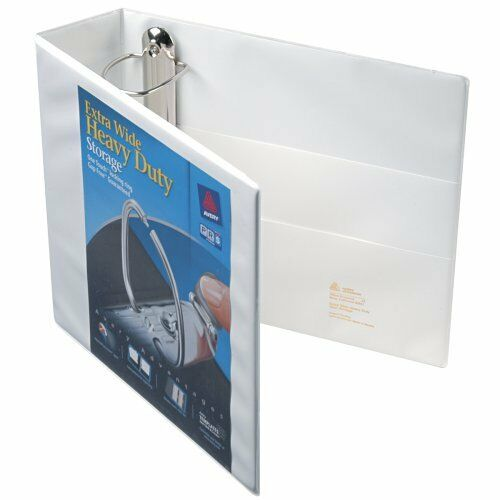 avery extra wide ezd reference view binder 3 inch rings white 1