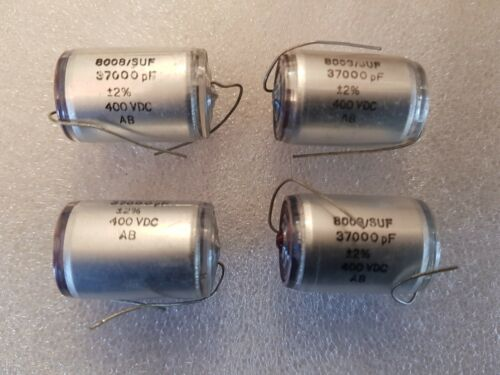 4 X Suflex 37000pF 37n 0.037uF 400 V DC 2/% Polystyrène Capacitor
