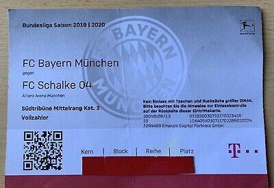 Sammlerticket 25.01.2020 FC Bayern München - FC Schalke 04 ...