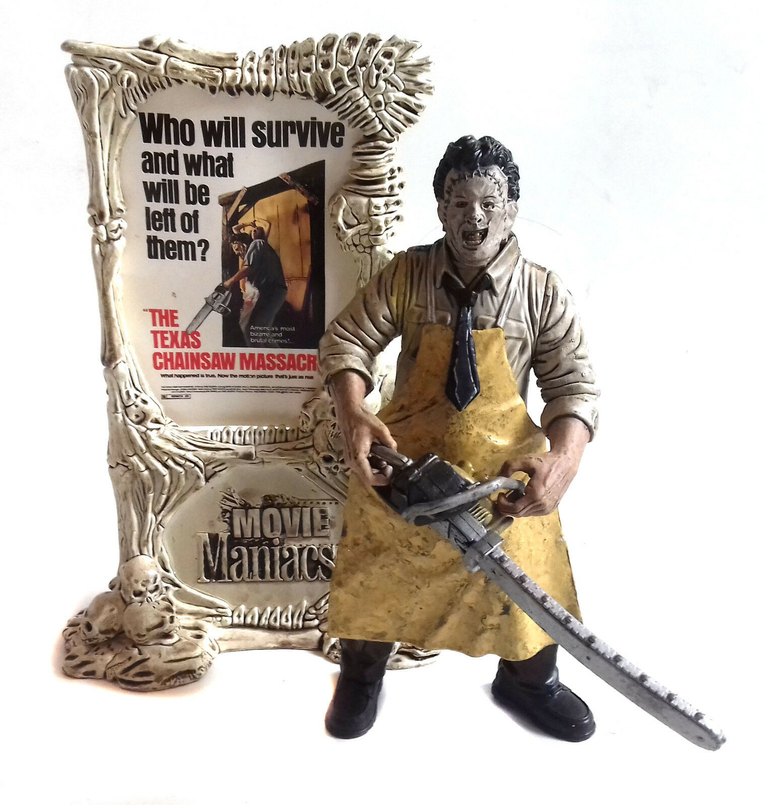 ORIGINAL McFarlane Movie Maniacs Texas Chainsaw Leatherface 6  horror figure