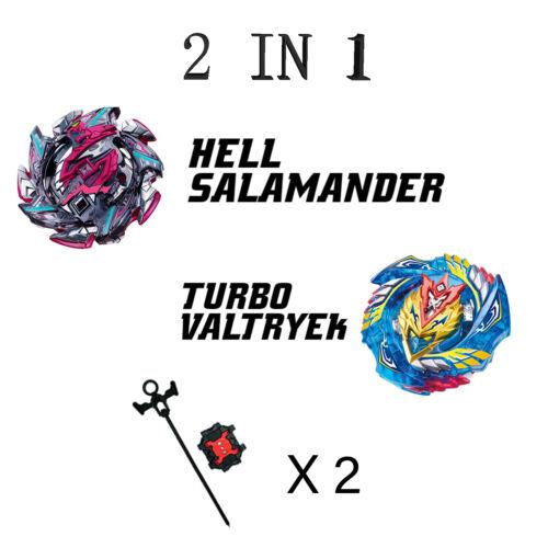 Lot of 2 Beyblade Set B113//B127 Hell Salamander//Turbo Valtryek w//L-R Launcher X2