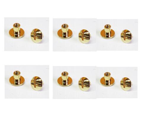 6 Stück Gürtelnieten Ledernieten Gürtelschrauben