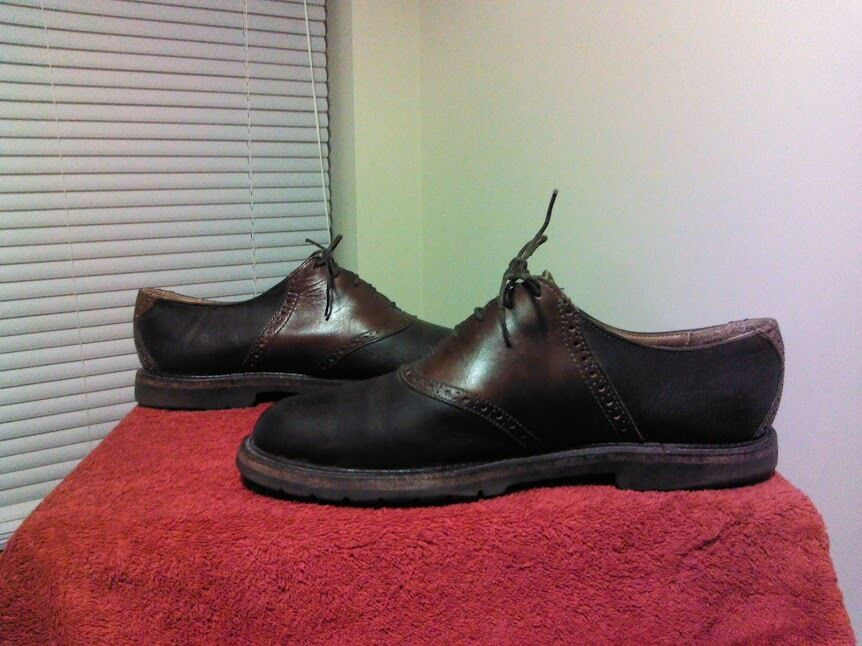Cole Haan Mens Country Oxford Saddle shoes Casual Dress shoes Sz 10D Brown