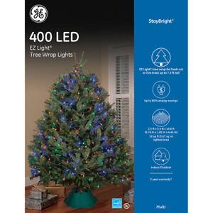 Image is loading GE-StayBright-Multicolor-LED-Mini-Christmas-Tree-Net-  sc 1 st  eBay & GE StayBright Multicolor LED Mini Christmas Tree Net Lights 400 ...