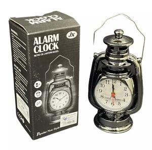 Vintage Retro Oil Lamp Alarm Clock Watch Table Kerosene Living Room Bedside Gift