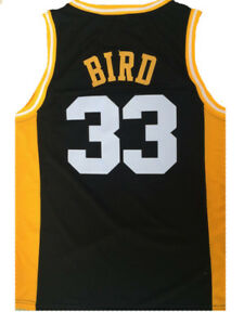 buy popular 3bfd4 d3aaa Details about Larry Bird 33 Valley High School Stitched Basketball Jersey  Shirt Black