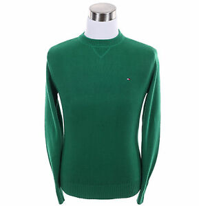 Tommy-Hilfiger-Men-Classic-Crew-Neck-Solid-Long-Sleeve-Sweater-Free-0-Shipping
