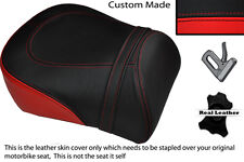 BLACK & BRIGHT RED CUSTOM FITS SUZUKI INTRUDER VL 1500 98-04 REAR SEAT COVER