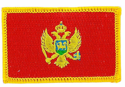 FLAG PATCH PATCHES MONTENEGRO IRON ON COUNTRY EMBROIDERED SMALL