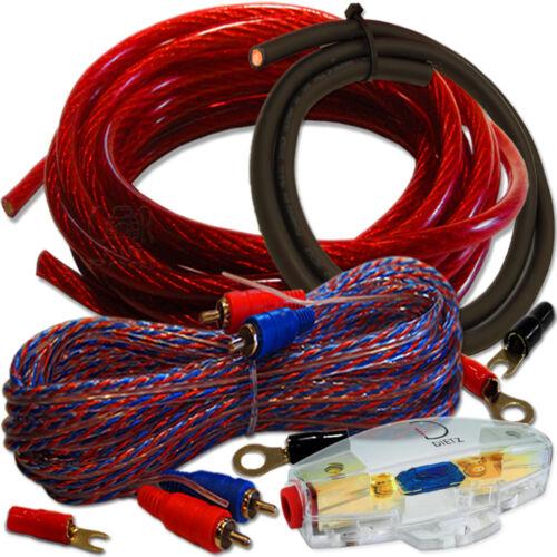 10mm² cobre kabelset cu cable set para etapa final amplificador OFC 102k-l kabelkit