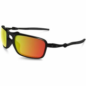 Oakley Badman OO6020-03 Dark Carbon With Ruby Iridium Polarized Lens ... 03b73267e718