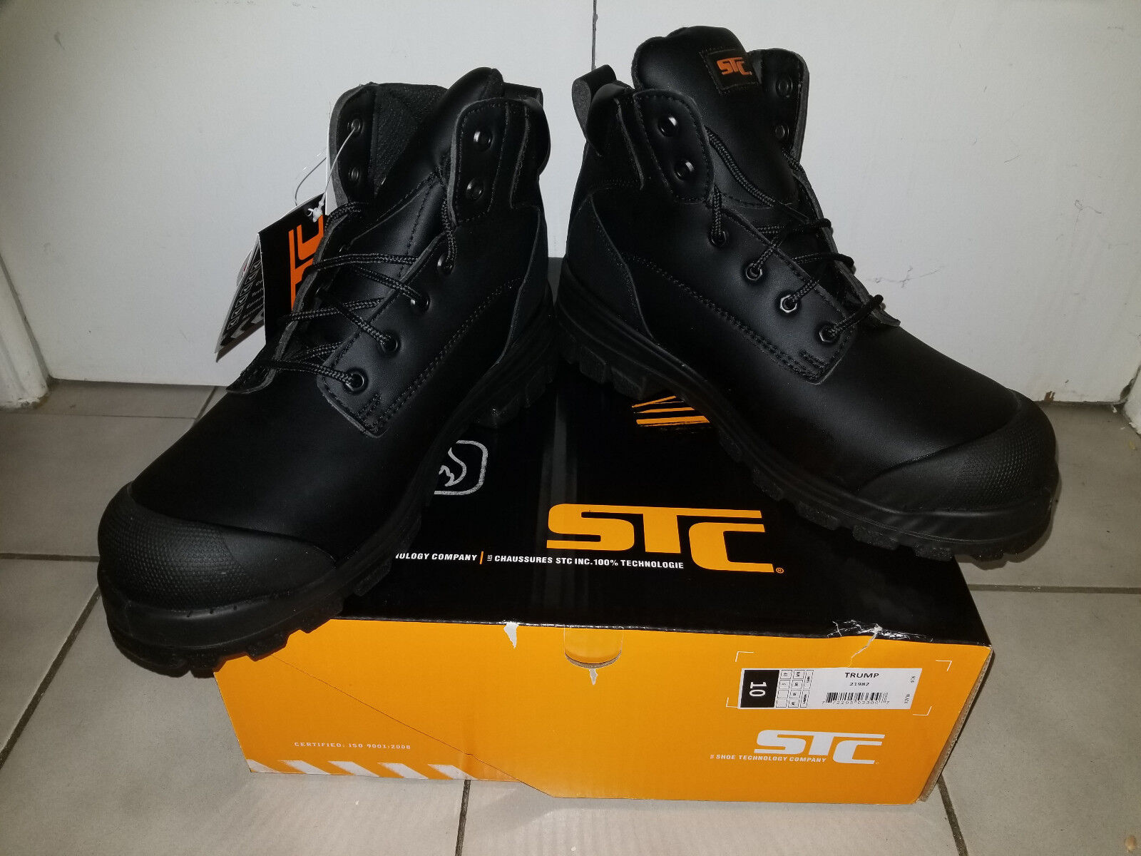 New STC Steeltoes work safety Stiefel , 6  , TRUMP 21982, Größe US 10, CSA approved