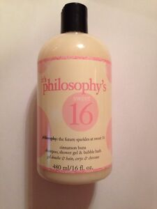 Philosophy Sweet 16 Cinnamon Buns Shampoo Body Wash Bubble Bath New 16oz Ebay