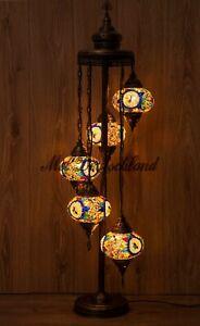 XXL Stehlampe Bodenlampe Mosaik Lampe orientalisch Marokko Ottomann Lampe