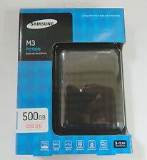 "Samsung M3 Slimline 500GB 2.5"" USB 3.0 External Portable Hard Drive HDD Balck"