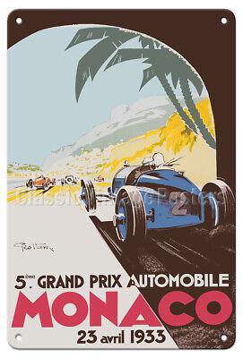 Monaco 1933 Grand Prix Automobile Road Racing Poster 24x36