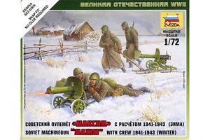 ZVEZDA-6220-1-72-Soviet-Machine-Gun-039-Maxim-039-with-Crew-Winter