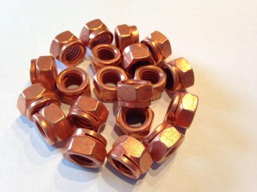 8 Stück Kupfermutter M8 SW12 mit Schlitz